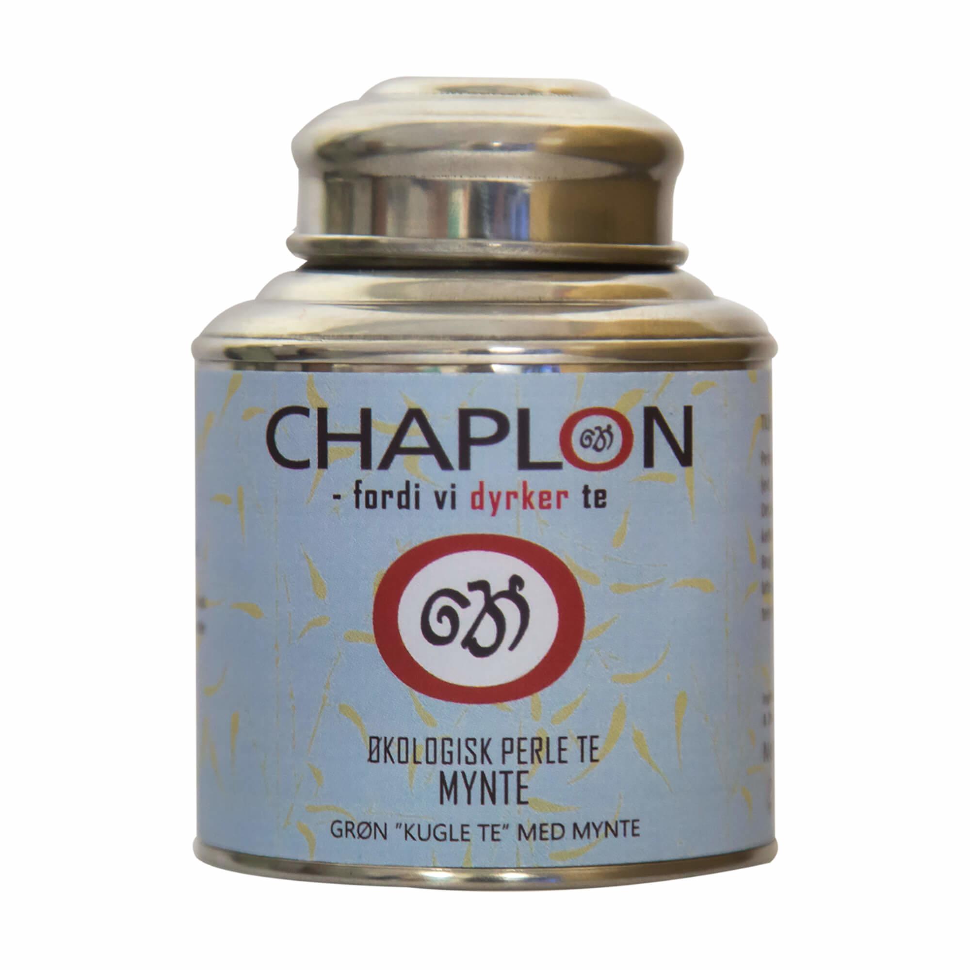 Image of   Chaplon Grøn Mynte Perle Te, 80 gram