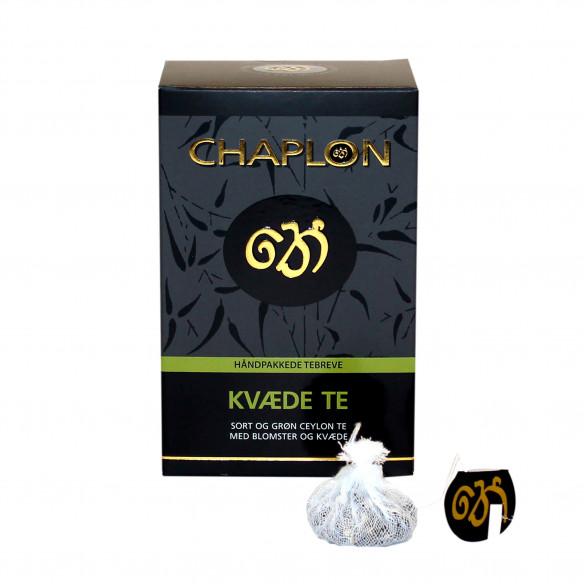 Chaplon Grøn & Sort Kvæde Te - 15 tebreve