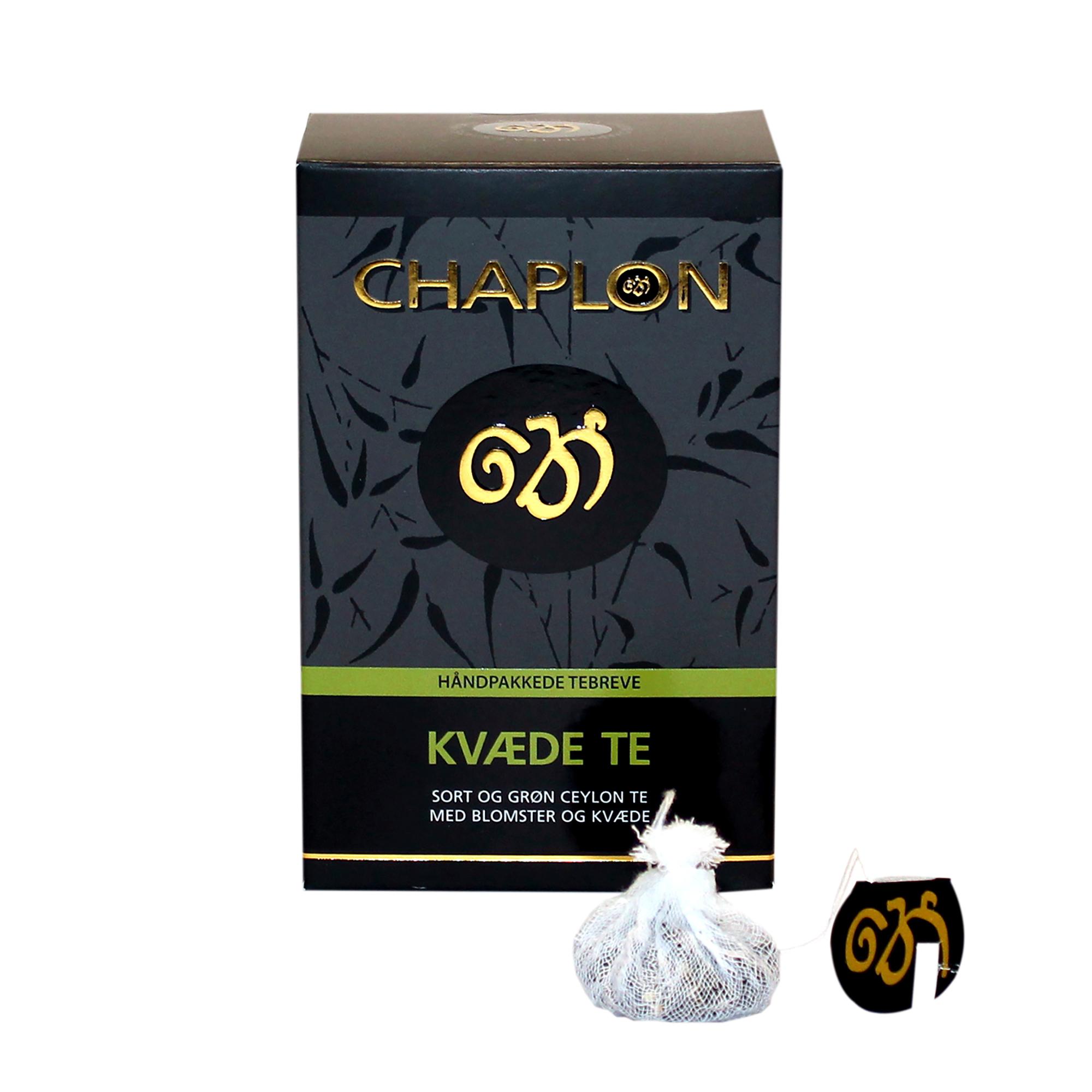 Image of   Chaplon Grøn & Sort Kvæde Te - 15 tebreve