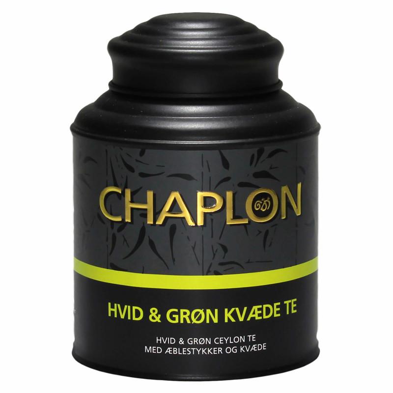 Hvid og grøn kvæde te fra Chaplon Tea i dåse
