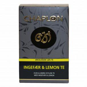 Ingefær og lemon te fra Chaplon Tea i refill æske