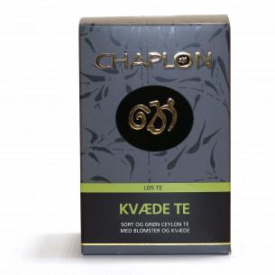 Grøn og sort kvæde te fra Chaplon Tea i refill æske