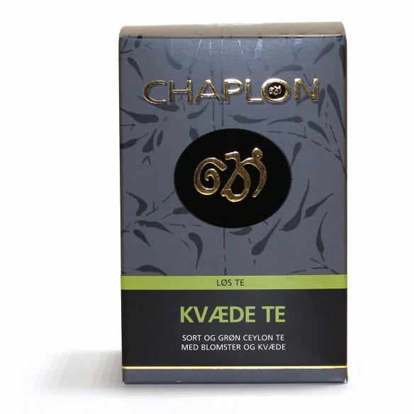 Chaplon Grøn & Sort Kvæde Te - 100 gram løs te