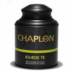 Grøn og sort kvæde te fra Chaplon Tea i dåse