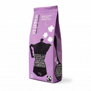 Espresso malet kaffe fra Clipper