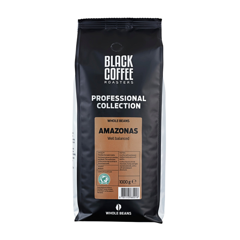 Amazonas - Rainforest Alliance. Fra Black Coffee Roasters