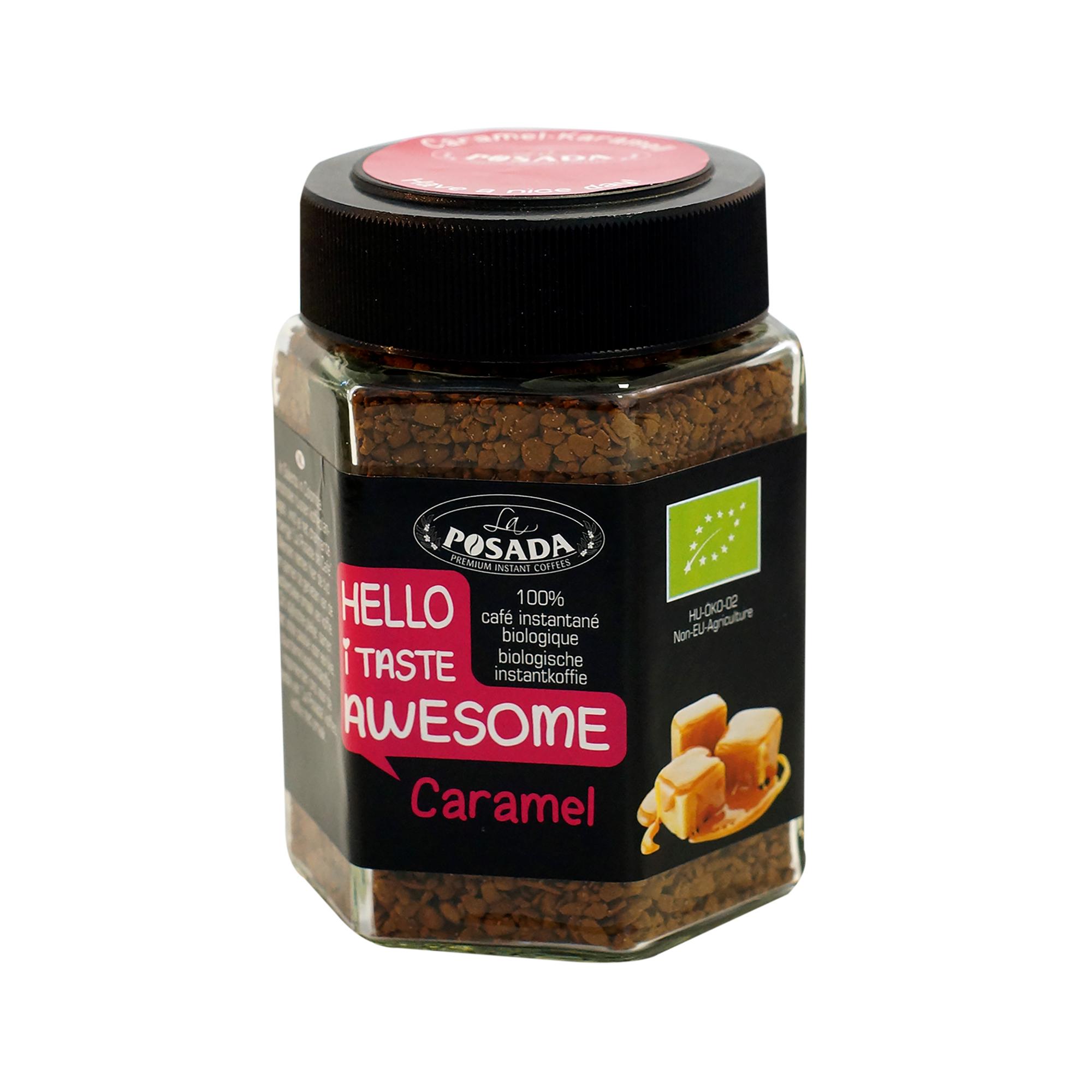 Image of   Caramel instant økologisk kaffe - 50 gram