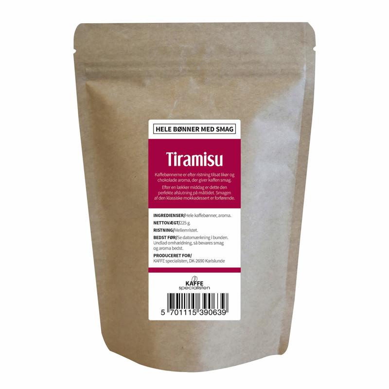 Hele kaffebønner med tiramisu smag fra KAFFE Specialisten