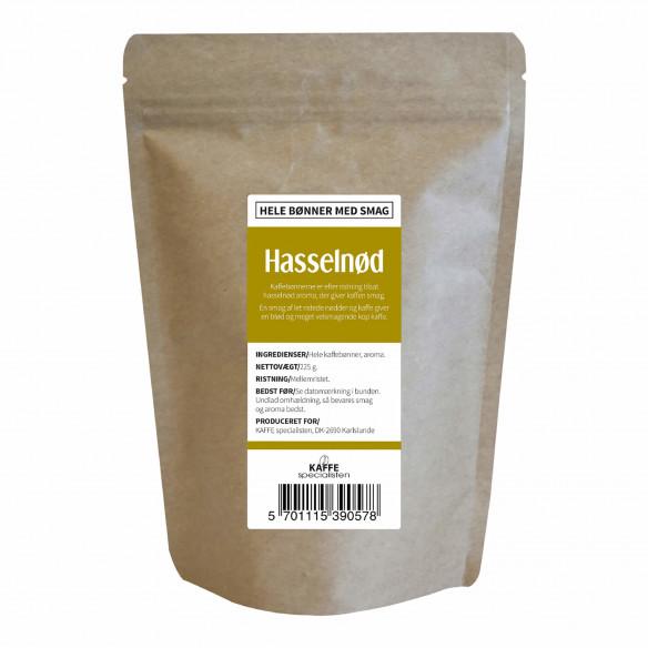 Kaffebønner - Hasselnød smag, 225 gram