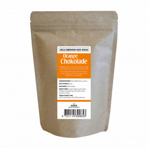 Hele kaffebønner med orange chokolade smag fra KAFFE Specialisten
