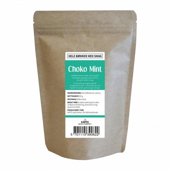 Kaffebønner - Choko mint smag, 225 gram