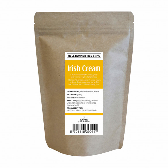 Kaffebønner - Irish cream smag, 225 gram