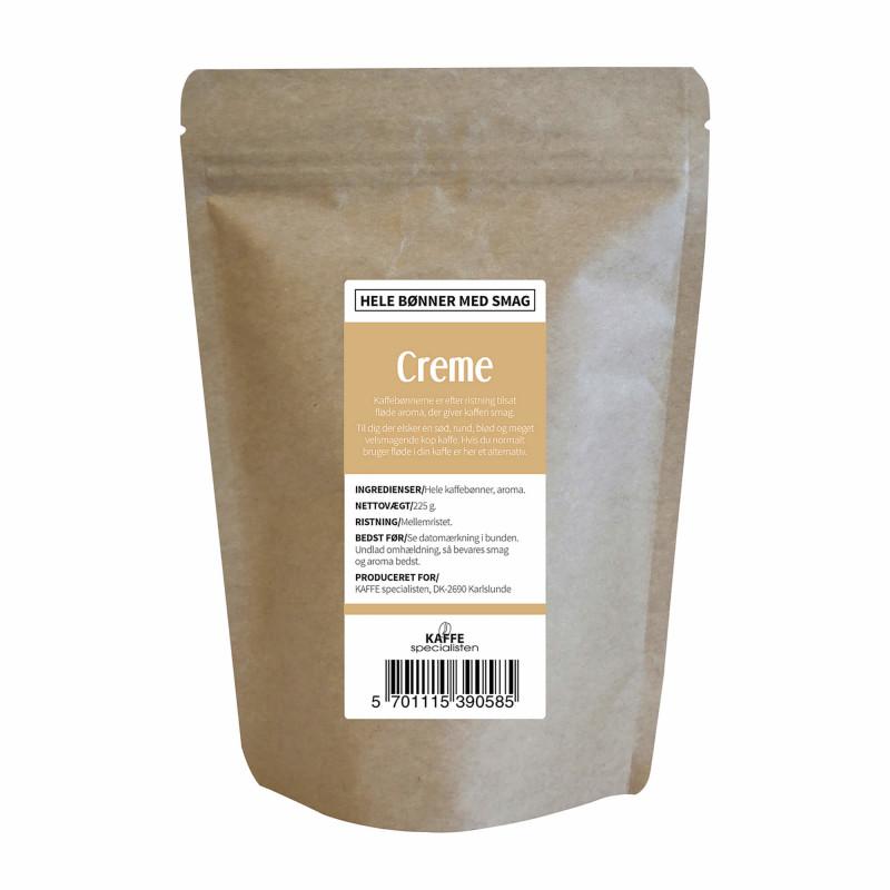 Hele kaffebønner med creme smag fra KAFFE Specialisten