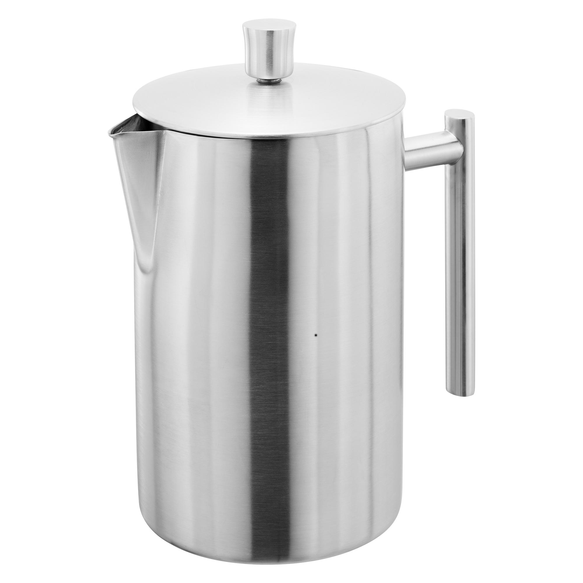 Cafetiere stempelkande mat stål 12 kopper