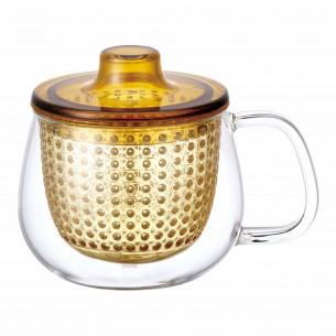 UNIMUG lille tekop med gult filter fra Kinto