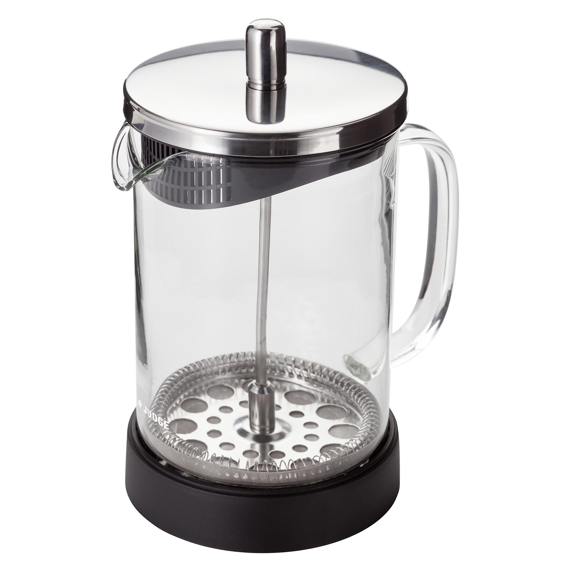 Cafetiere stempelkande, glas - 6 kopper