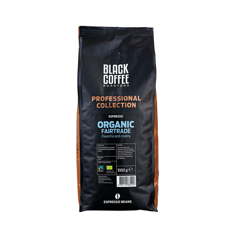 Organic Fairtrade Espresso, 1 kg fra Black Coffee Roasters