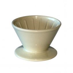 Kaffetragt i porcelæn, hvid, 4-kops