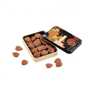 32% Mælkechokolade blade i dåse fra Simon Coll