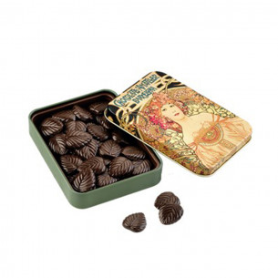 70% Mørk Chokolade blade i dåse fra Simon Coll (60g)
