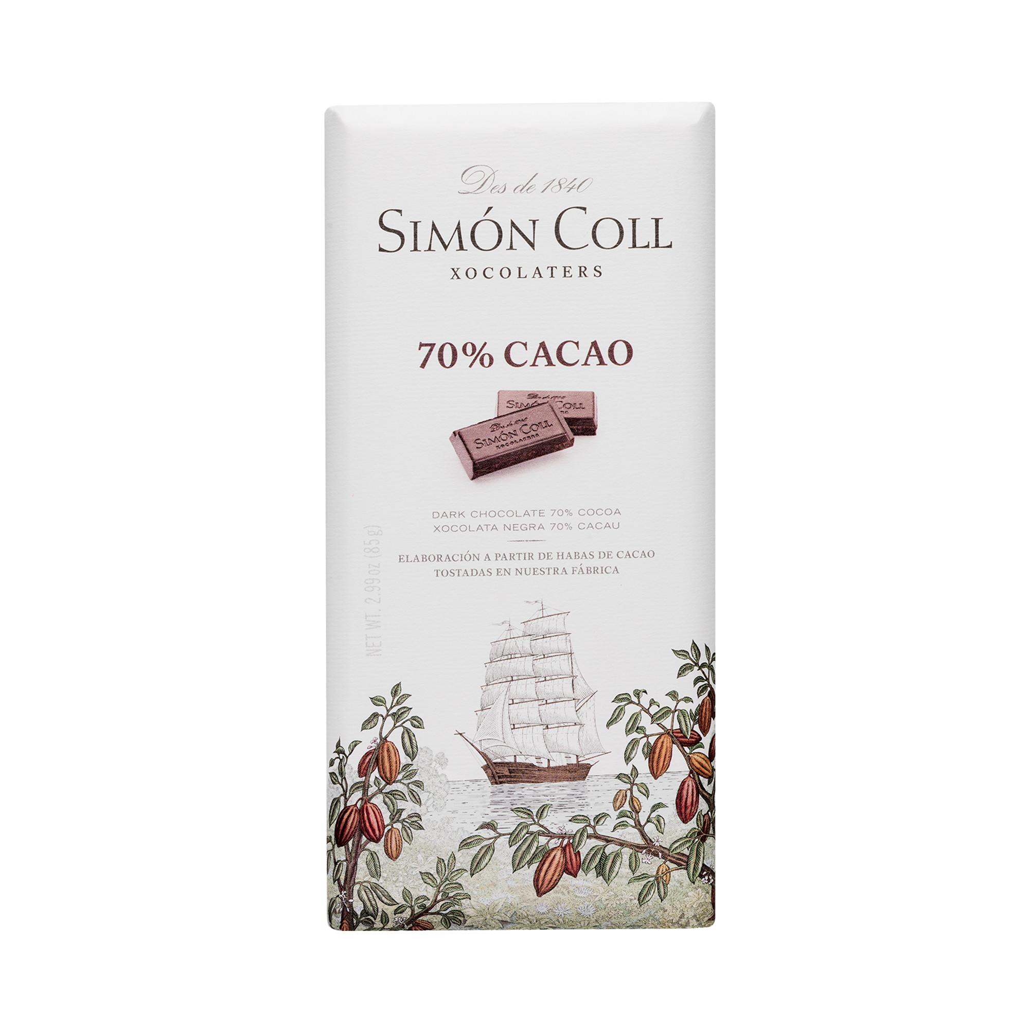 Image of   70% Mørk Chokolade - 85 gram