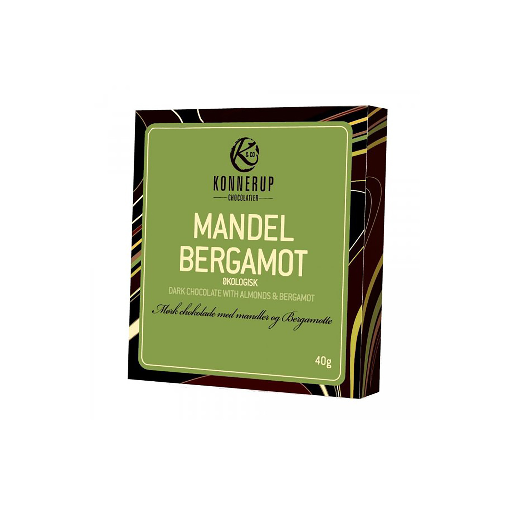 Image of   Chokolade m. Mandel & Bergamot - 40 gram