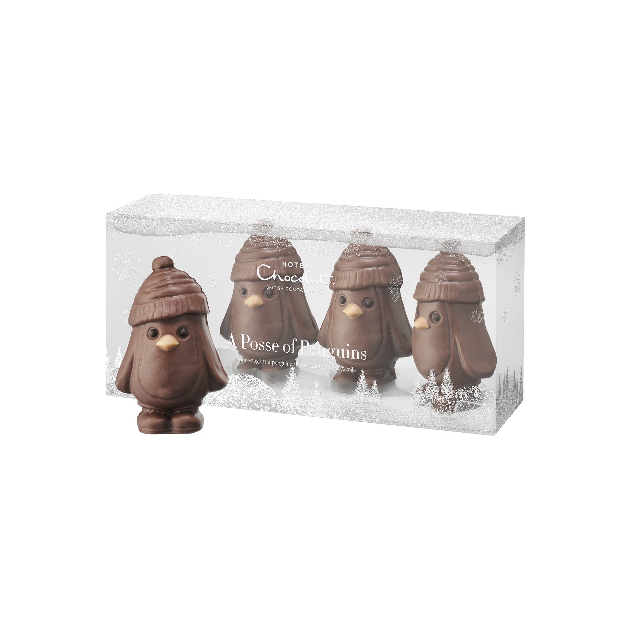 Image of   4 mælkechokolade pingviner - 160 gram
