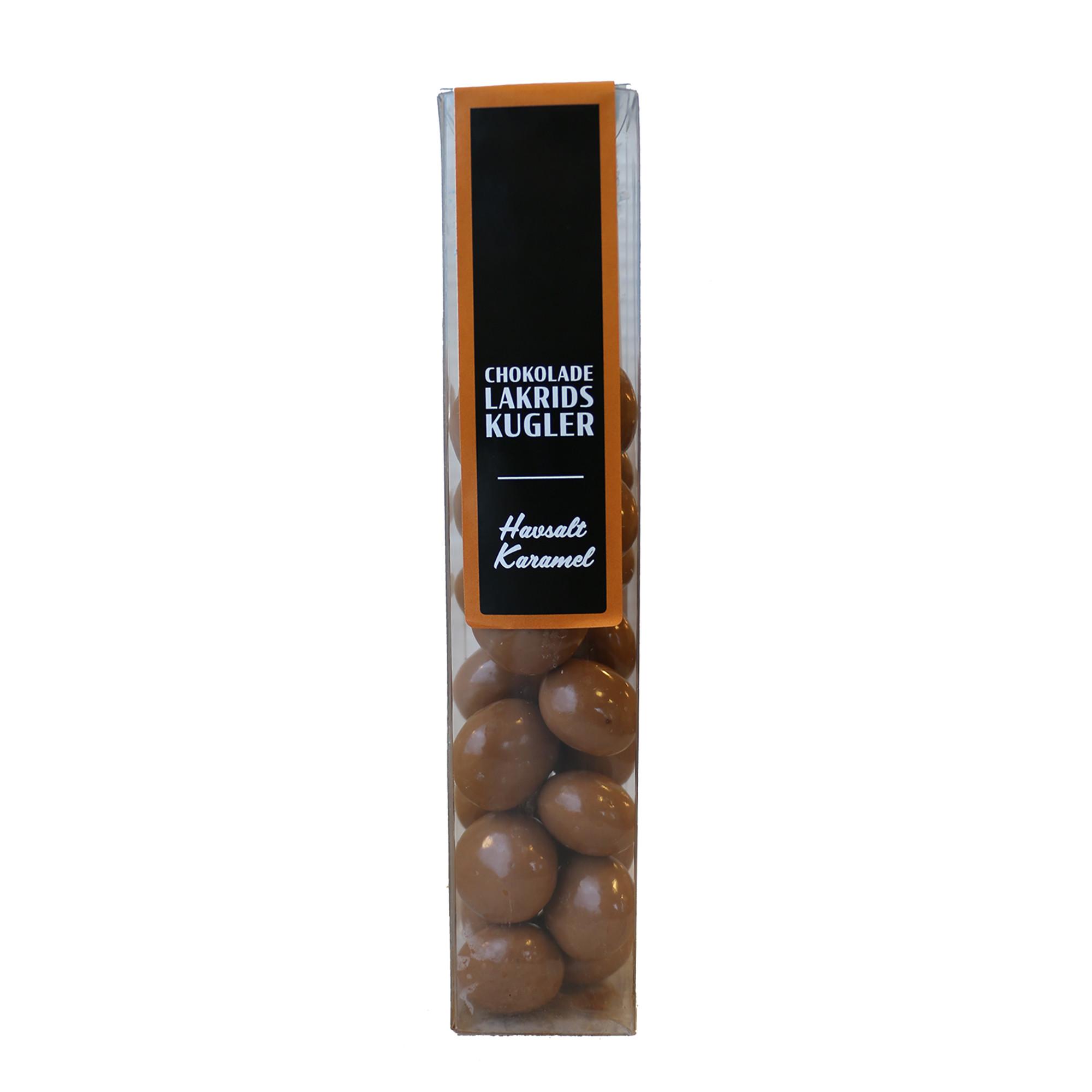 Image of   Choko-lakridskugler m. havsalt & karamel - 180 gram
