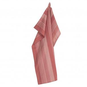 PLINT Viskestykke Stripe, terracotta rose