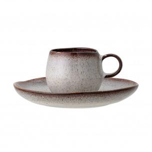 Sandrine Espresso kop m/ underkop grå - Bloomingville