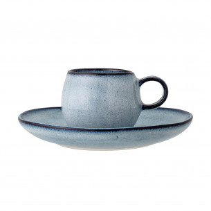Bloomingville Sandrine Espresso Kop m/Underkop, blå